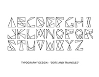 """Dots and Triangles"" typeface"