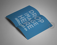 Brochure Lying Open Over a Smooth Background