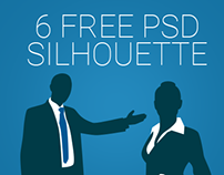 Business Men and Women Silhouette Free PSD
