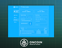 Oncoin wallet UI