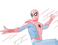 Spiderman Line Illustration
