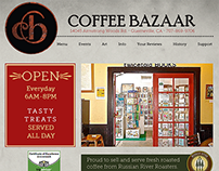 Coffee Bazaar Website Design