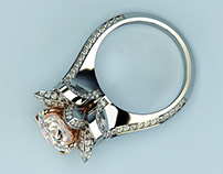 Engagement ring rendering.