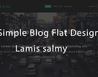 simple blog flat design