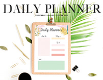 Free Artistic Daily Planner Printable V2