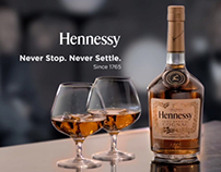 HENNESSY 'NEVER STOP. NEVER SETTLE.' CAMPAIGN