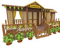 Maybank Raya Rumah Kampung Set Design
