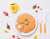 Pumpkin Pie | Paper art