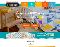 Web Design Concept for Stitched