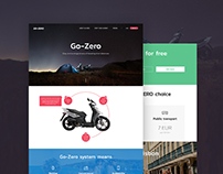 Landing Page for Rent Bike Service