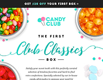 Email Designs for Candy Club