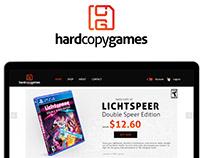 Hard Copy Games Website Design