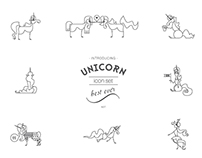 Unicorn Icon Set