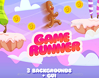 2D Infinity Runner Game Set (Full Version: Background,