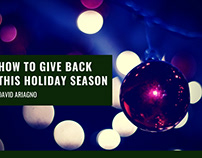 How To Give Back This Holiday Season