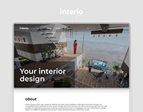Interio-interior design studio. Landing page
