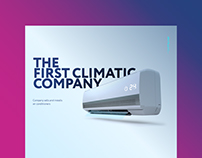 Landing page for The First Climatic Company