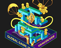 T-shirt Design for Global Game Jam Vancouver