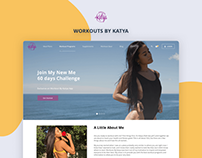 Workoutsbykatya - Website Design