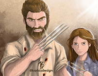 Wolverine/X23 - Logan/Laura - Logan Movie Fan Art