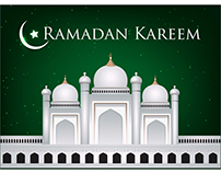 Vector Ramadan Greeting card Background