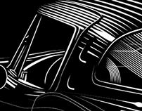 1963 Split window Corvette Stingray Screen print
