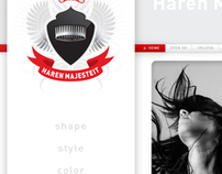 Haren Majesteit (Hair Majesty) web design
