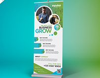 Free PSD : Business Promotion Roll-up Banner Template