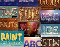 The Artistic 3D Lettering Bundle: 29 Text Effects Packs
