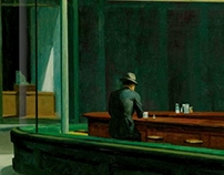 Hopper's 'Nighthawks' NOW IN 3D!