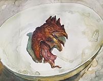 鸡头 水彩