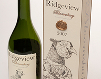 Ridgeview Wine packaging