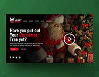 Mery xmas Noel Website Interface