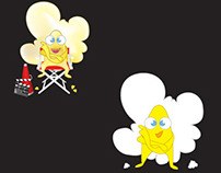 Popcorn Character for Cinema Critic Blog