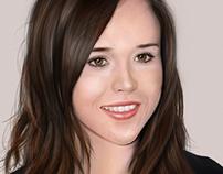 Ellen Page ( Digital Portrait )