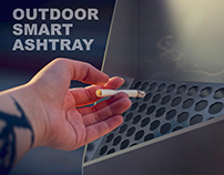 OUTDOOR SMART ASHTRAY | PRODUCT DESIGN