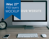 FREE Apple iMac PSD layers MOCKUP