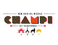 Champi Hair oil Missile Packaging