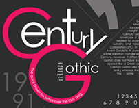 Century Gothic Typography Font Poster