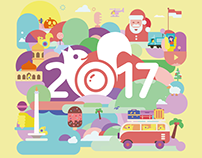 2017 Calendar illustrations