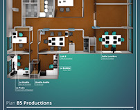 3D modeling of B5 Productions offices and training cent