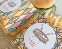 Bwana Burgers Packaging Design