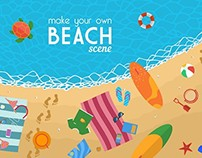 Beach Background And Icons