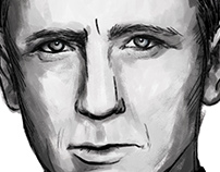 Sketchbook // Daniel Craig portrait