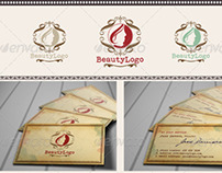 Retro Beauty Logo and Stationery