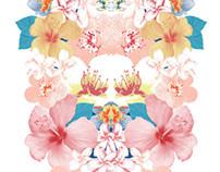 Estampa Floral Espelhado