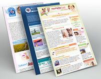 Various HTML newsletter designs