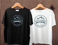 Mountains t-shirts design bundle with free mock-up
