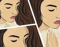Albanian Girl - Sumea Gerguri Andi Berisha Illustration