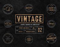 Vintage Badges Vol. 2 - Circles Collection